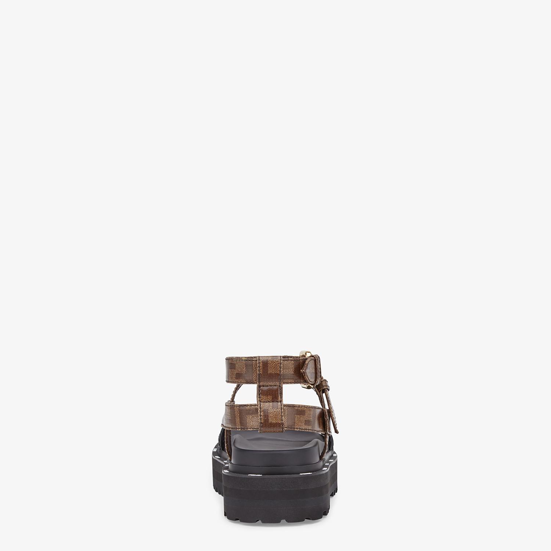 FENDI SANDALS - Sandals in glossy black neoprene - view 3 detail