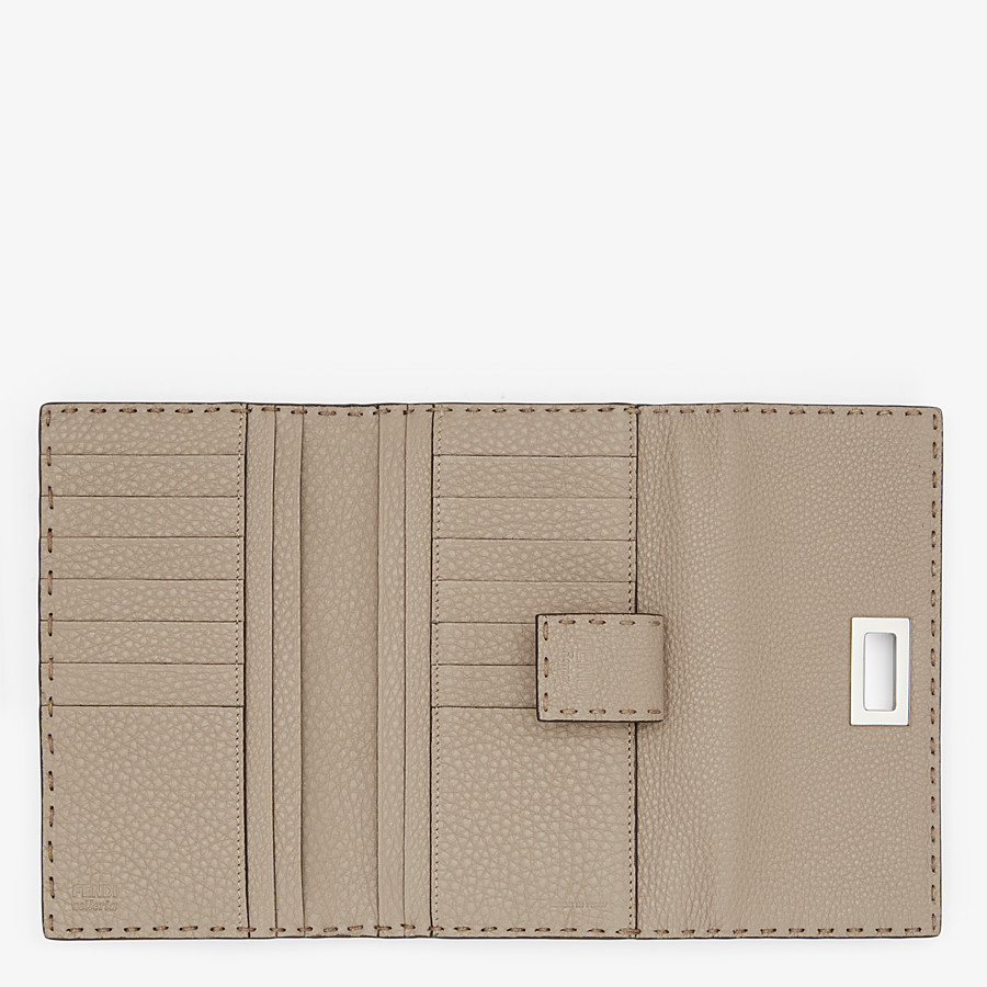FENDI CONTINENTAL - Beige leather wallet - view 5 detail