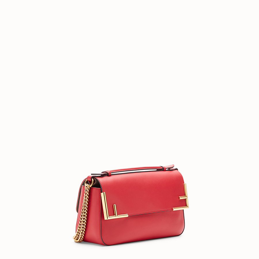 FENDI DOUBLE F - Multicolour leather and fabric bag - view 4 detail