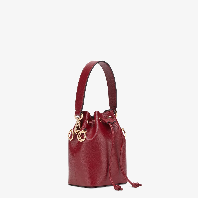 FENDI MON TRESOR - Burgundy leather mini bag - view 2 detail
