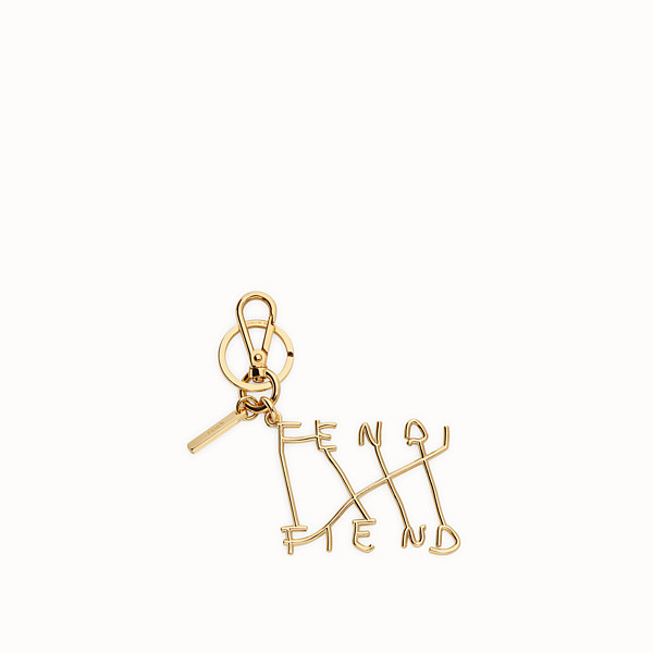FENDI KEY RING - Key ring in gold coloured metal - view 1 small thumbnail