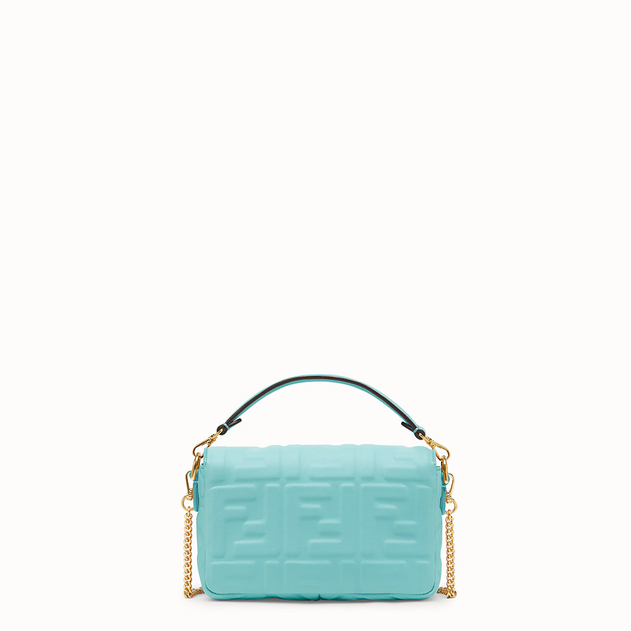 FENDI MINI BAGUETTE - Pale blue leather bag - view 4 detail