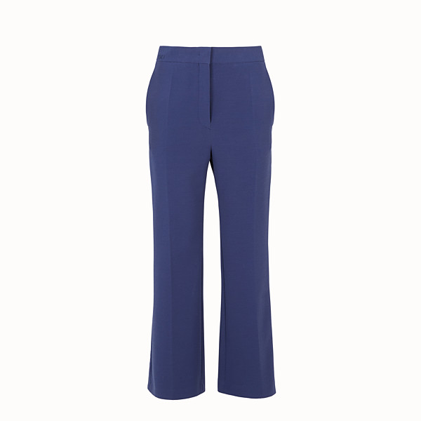 FENDI TROUSERS - Blue fabric trousers - view 1 small thumbnail