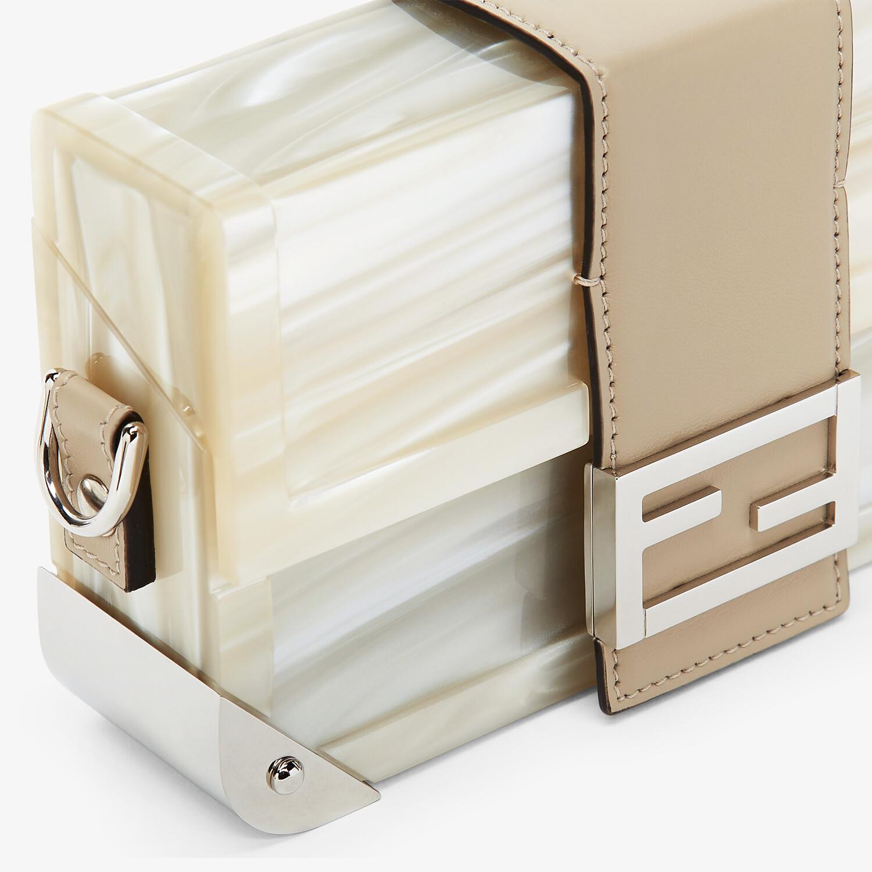 FENDI BAGUETTE TRUNK MINI - Mother of pearl plexiglass bag - view 5 detail