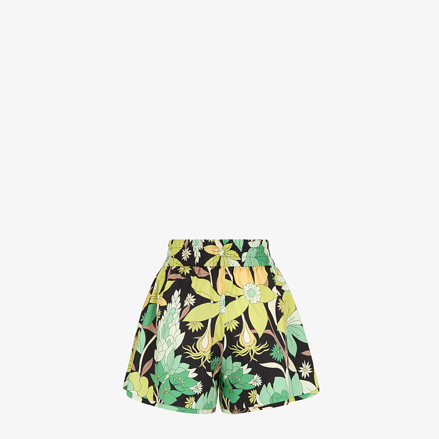 FENDI SHORTS - Multicolor cotton shorts - view 2 detail