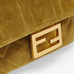 FENDI MINI BAGUETTE - Green velvet bag - view 5 thumbnail