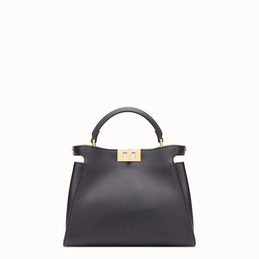 884e6b5eae03 Black leather bag - PEEKABOO ESSENTIALLY
