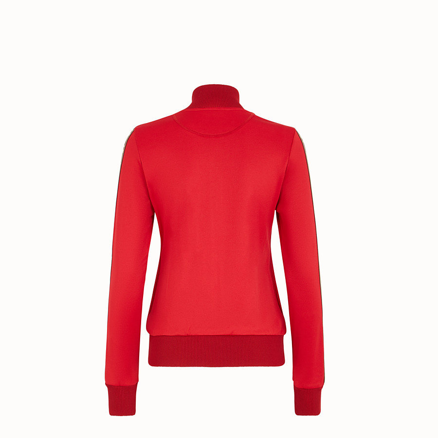 FENDI SWEATSHIRT - Red jersey sweatshirt - view 2 detail