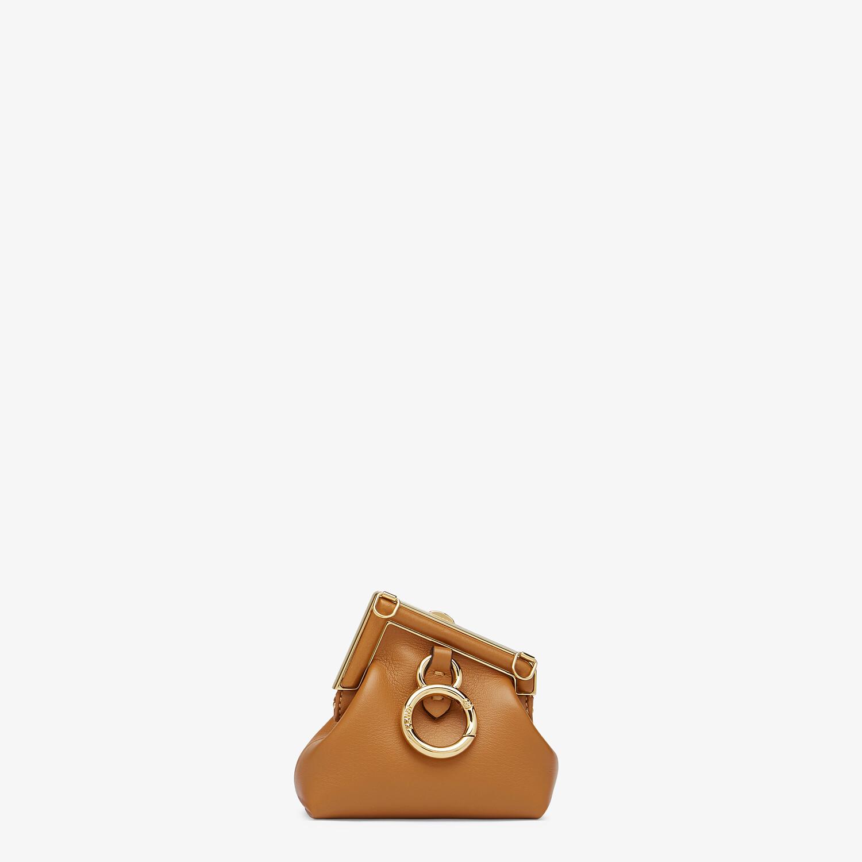 FENDI NANO FENDI FIRST CHARM - Brown nappa leather charm - view 3 detail