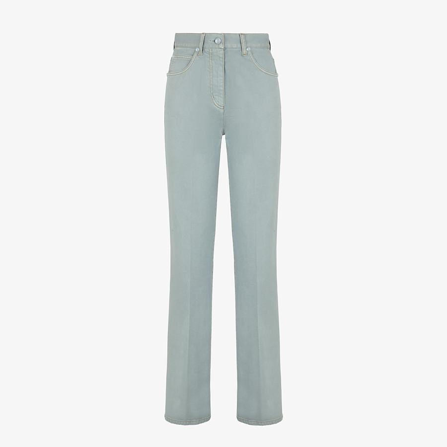 FENDI TROUSERS - Blue denim trousers - view 1 detail