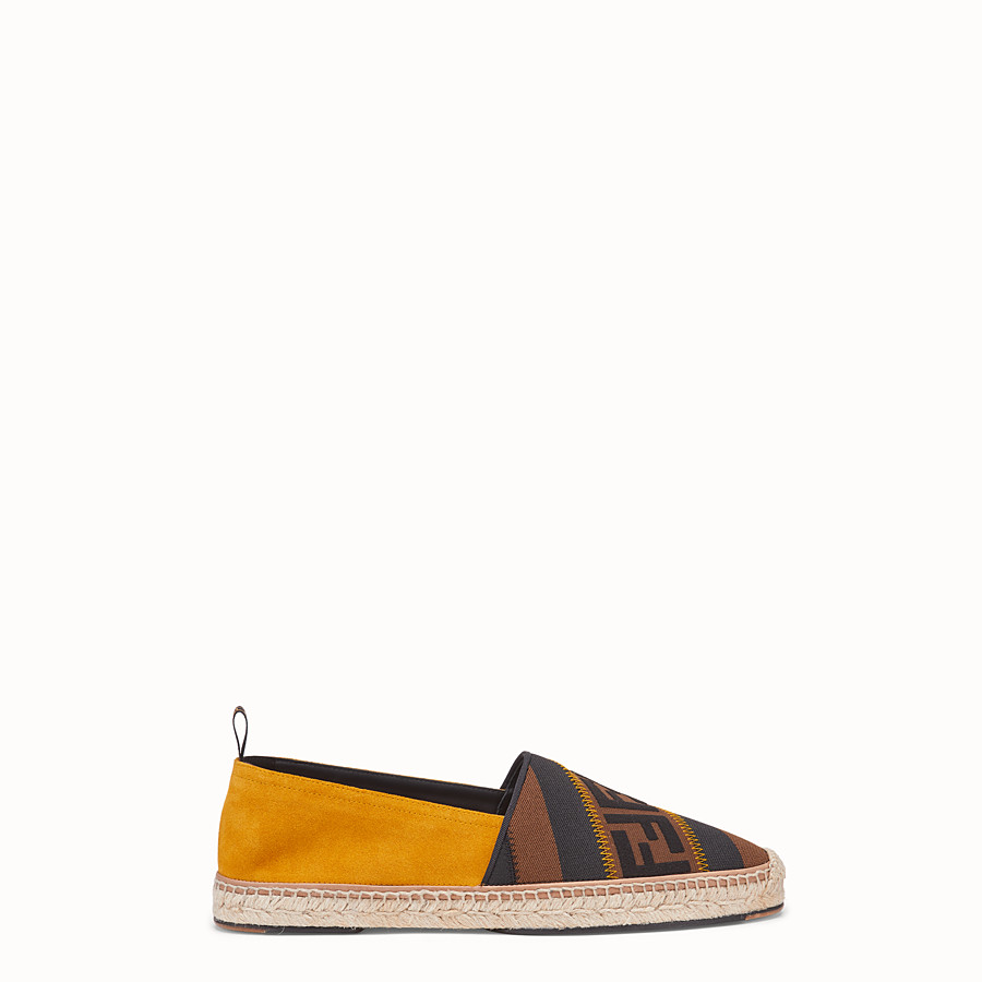 FENDI ESPADRILLES - Yellow split leather espadrilles - view 1 detail