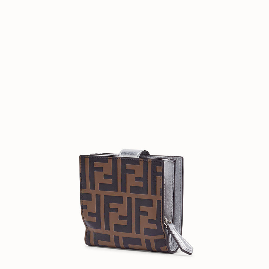FENDI BIFOLD - Compact, silver leather wallet - view 2 detail