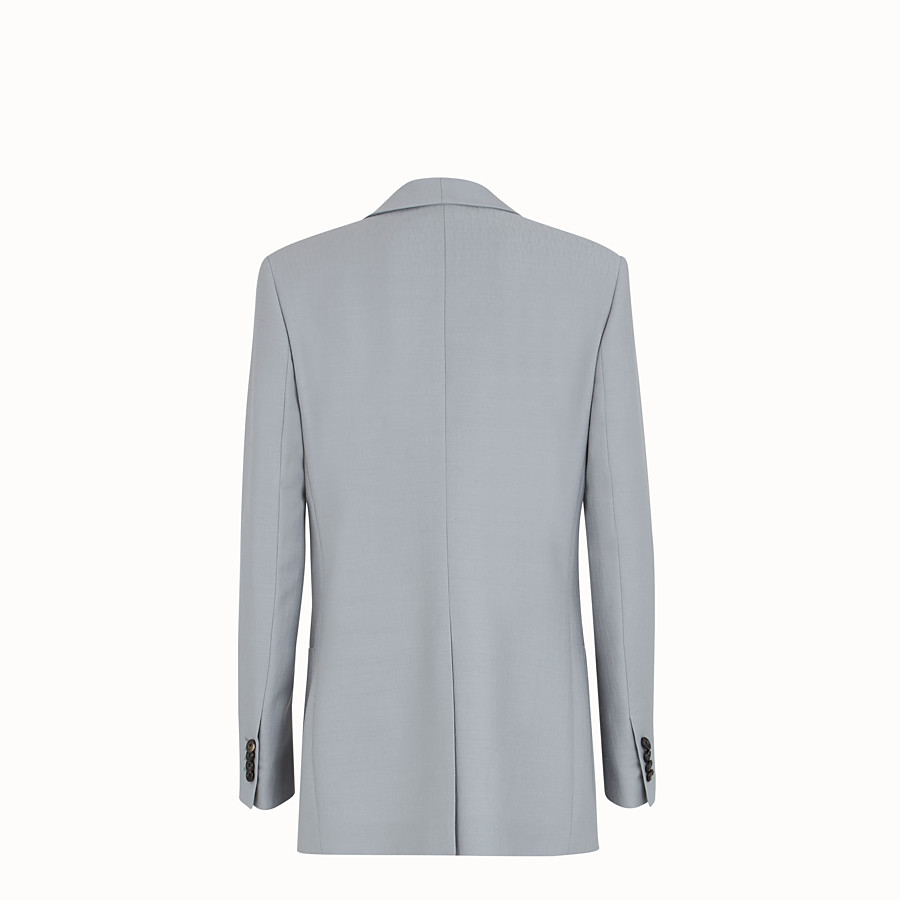 FENDI JACKET - Grey wool jacket - view 2 detail