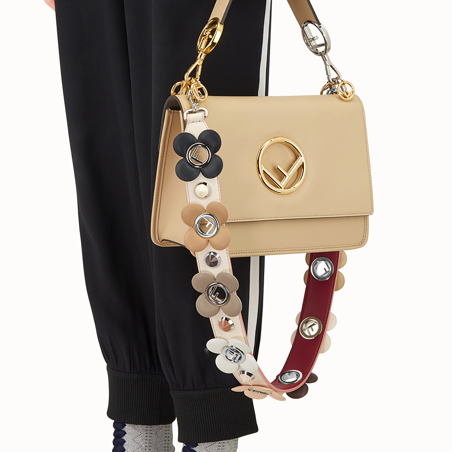 FENDI STRAP YOU - Leather shoulder strap - view 2 detail