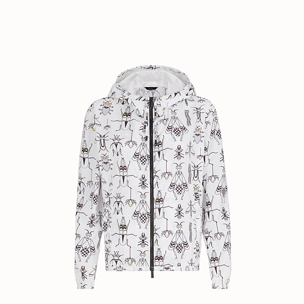 FENDI WINDBREAKER - White nylon windbreaker - view 1 small thumbnail