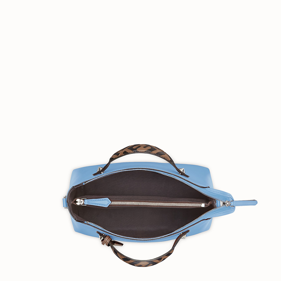 FENDI BY THE WAY REGULAR - Pale blue leather Boston bag - view 4 detail