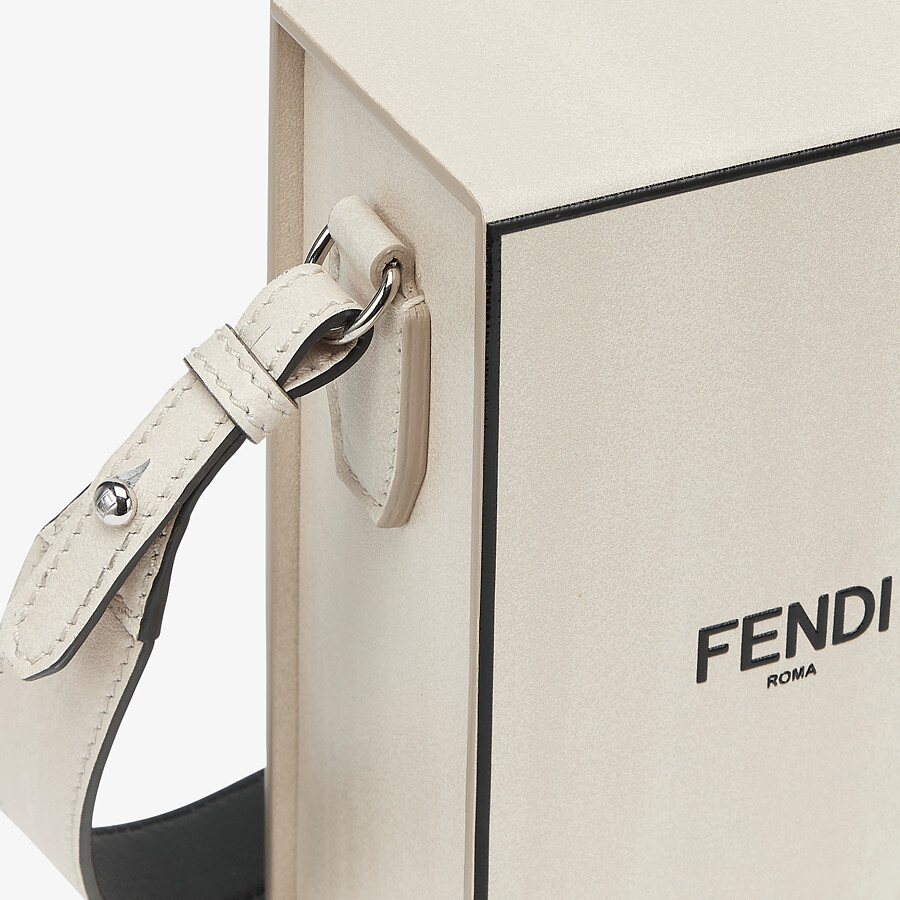 FENDI VERTICAL BOX - White leather bag - view 5 detail