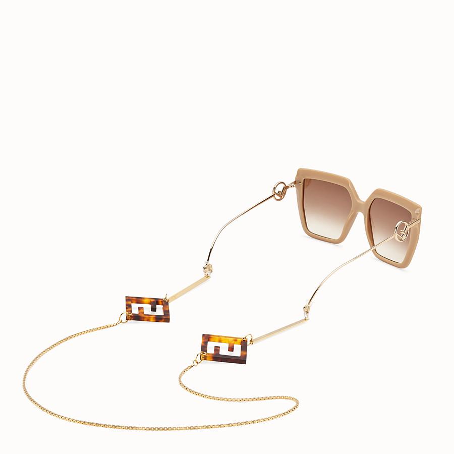 FENDI GLASSES CHAIN - Gold-color necklace - view 2 detail