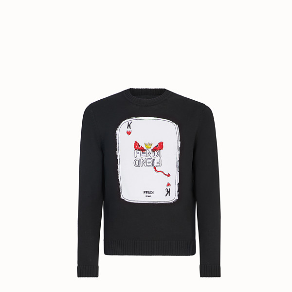 FENDI SWEATER - Black cotton sweater - view 1 small thumbnail
