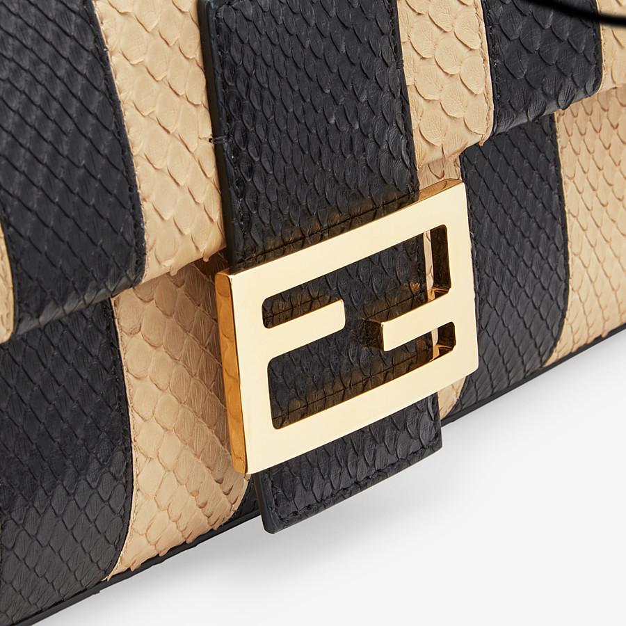 FENDI BAGUETTE - Black python leather bag - view 6 detail