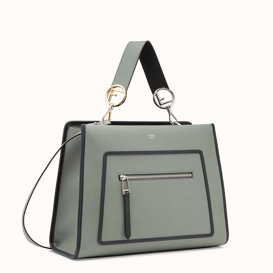 FENDI RUNAWAY REGULAR - Green leather bag - view 2 detail