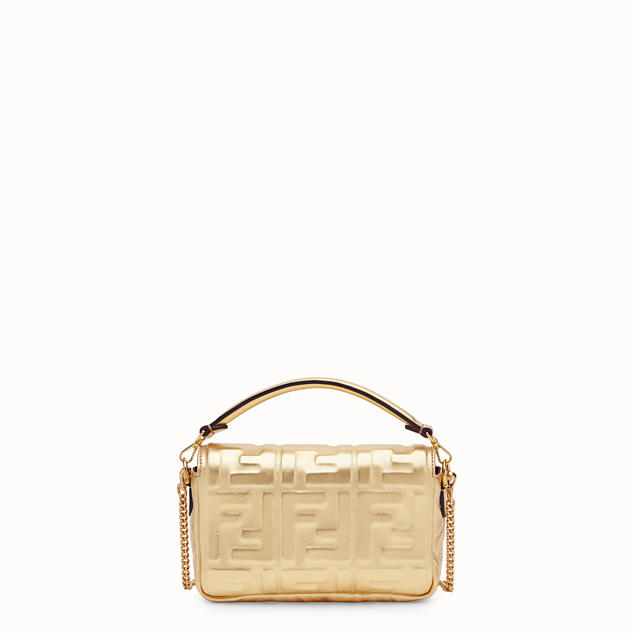 FENDI BAGUETTE MINI - Golden leather bag - view 4 detail