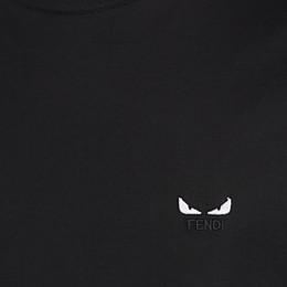 FENDI T-SHIRT - Black jersey T-shirt - view 3 thumbnail