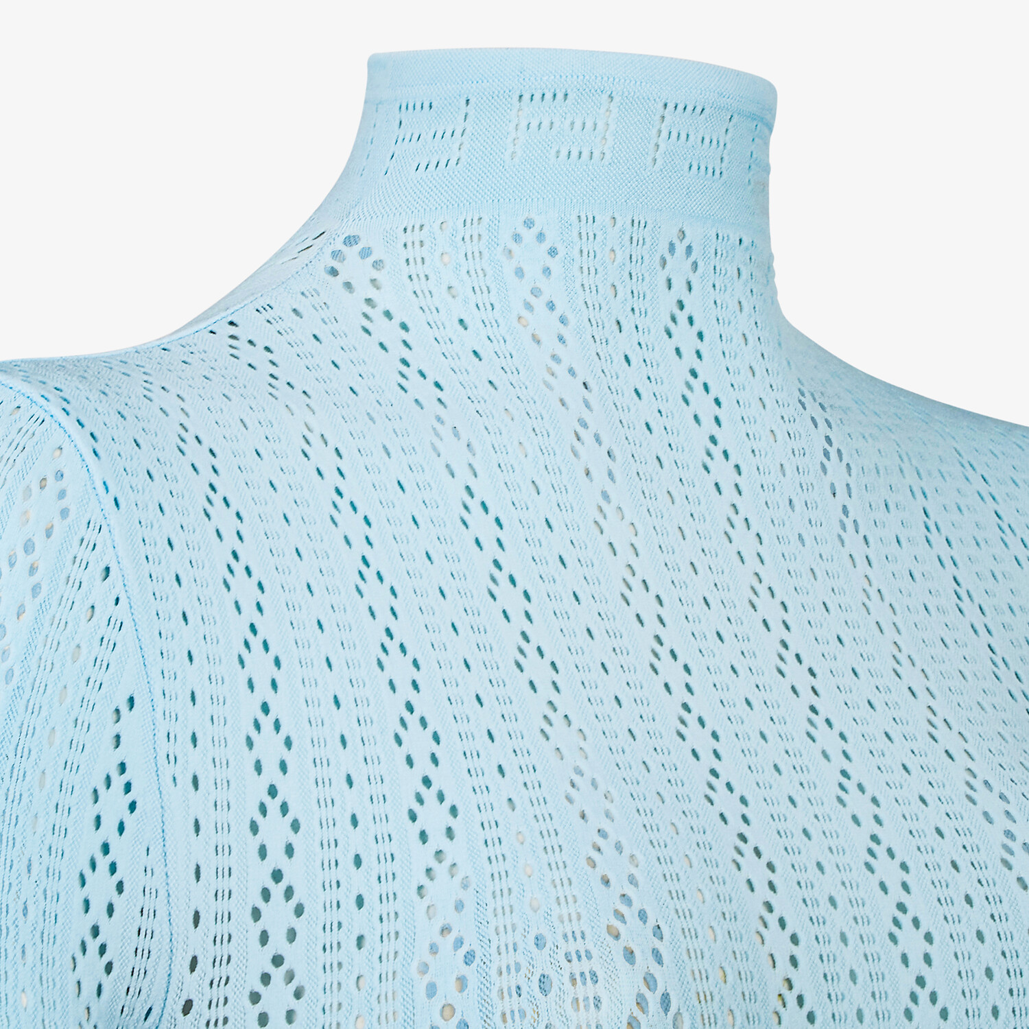 FENDI BODY - Light blue lace body - view 3 detail