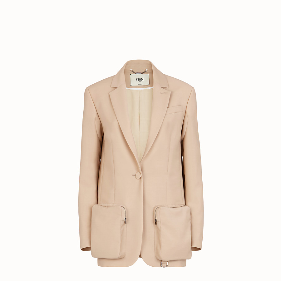 FENDI JACKET - Beige mohair blazer - view 1 detail