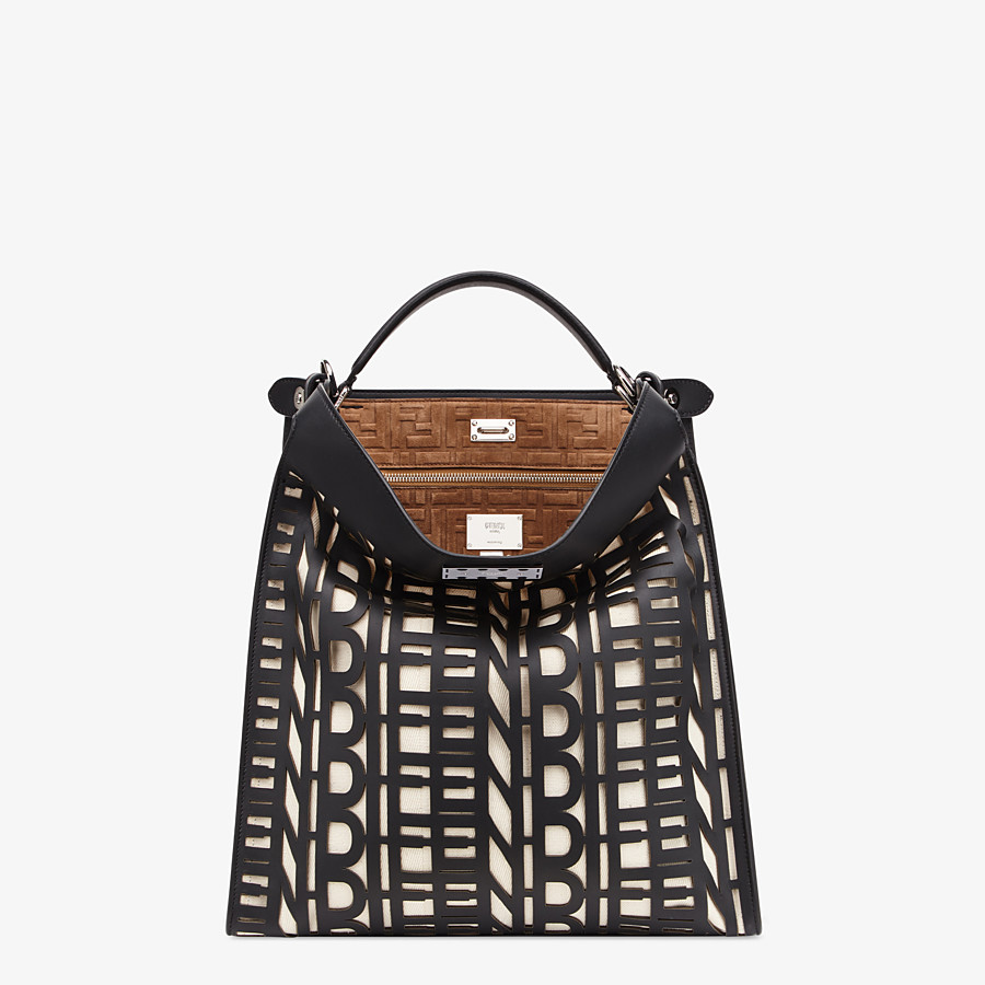 FENDI PEEKABOO X-LITE FIT - Black leather bag - view 2 detail