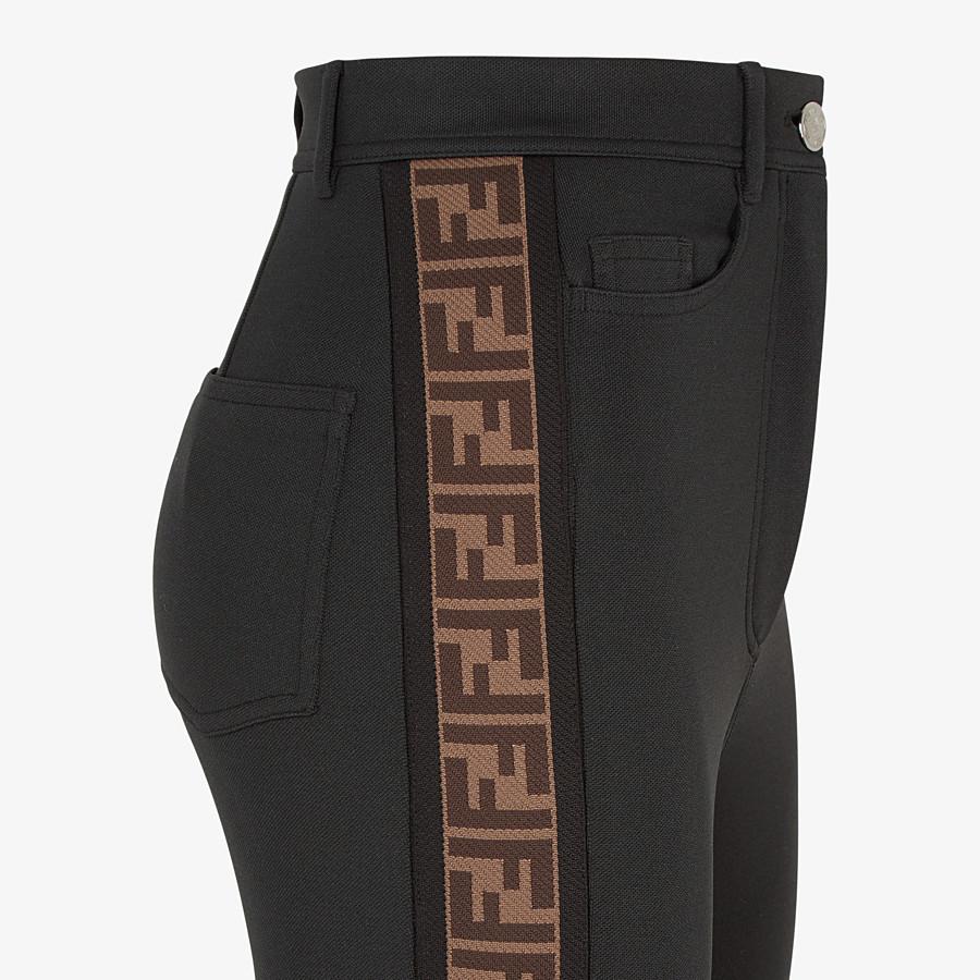 FENDI PANTS - Black jersey pants - view 3 detail