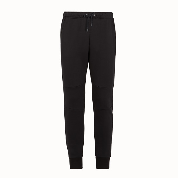 FENDI TROUSERS - Black cotton trousers - view 1 small thumbnail