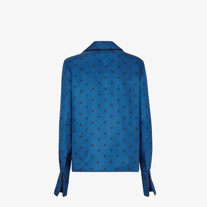 FENDI SHIRT - Blue silk blouse - view 2 detail