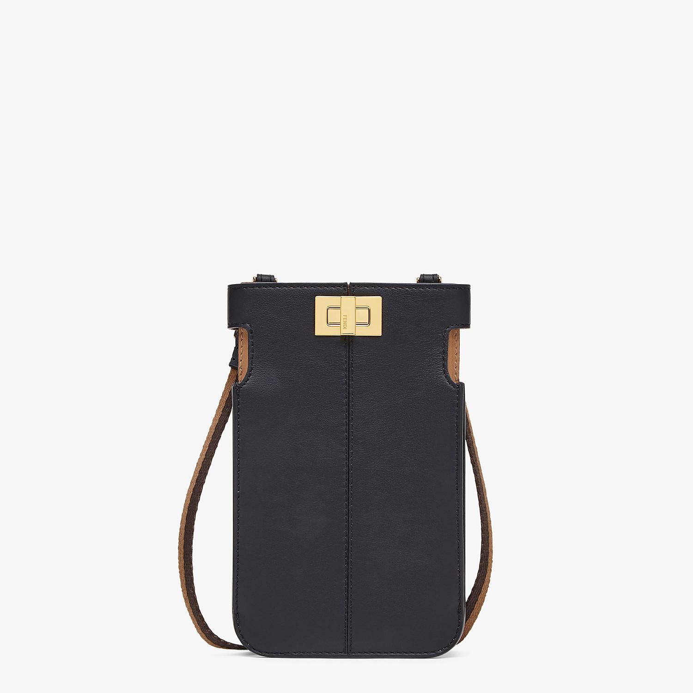 FENDI PEEK-A-PHONE - Black leather pouch - view 1 detail