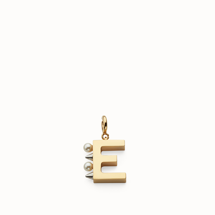 FENDI ABCHIC E - Charm with pearls and studs - view 1 detail