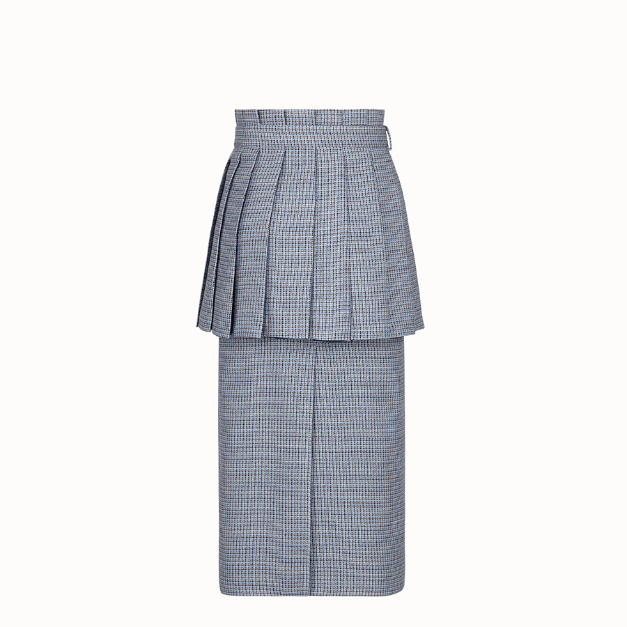 FENDI SKIRT - Micro-check wool and silk skirt - view 2 detail