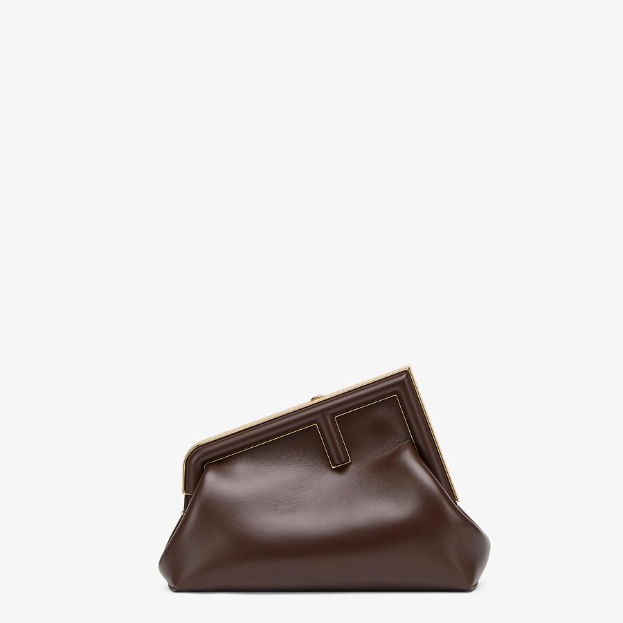 FENDI FENDI FIRST SMALL - Dark brown leather bag - view 1 detail