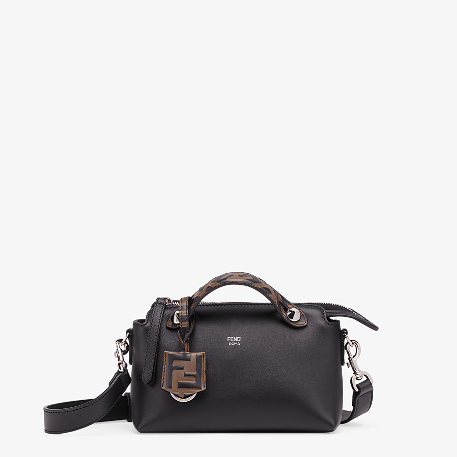 FENDI BY THE WAY MINI - Small Boston bag in black leather - view 1 detail