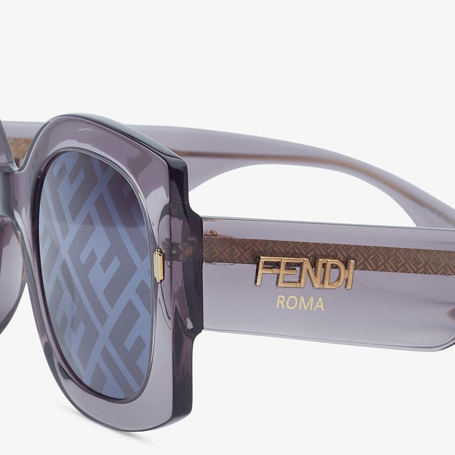 FENDI FENDI ROMA - Sunglasses in transparent gray acetate - view 3 detail
