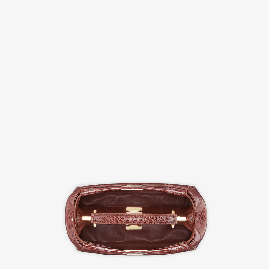FENDI PEEKABOO ICONIC MINI - Brown lizard bag - view 4 detail
