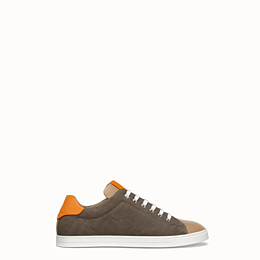 FENDI SNEAKER - Low-Top-Sneaker aus Canvas in mehrfarbigem Leder - view 1 thumbnail
