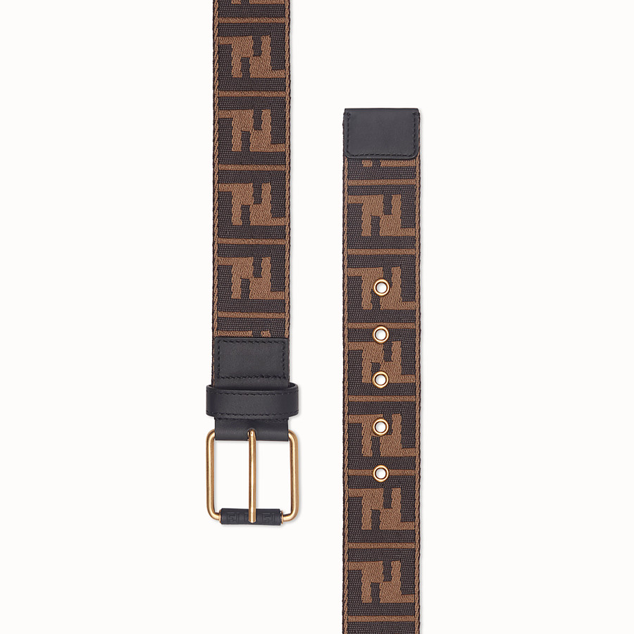 FENDI BELT - Multicolour fabric belt - view 2 detail