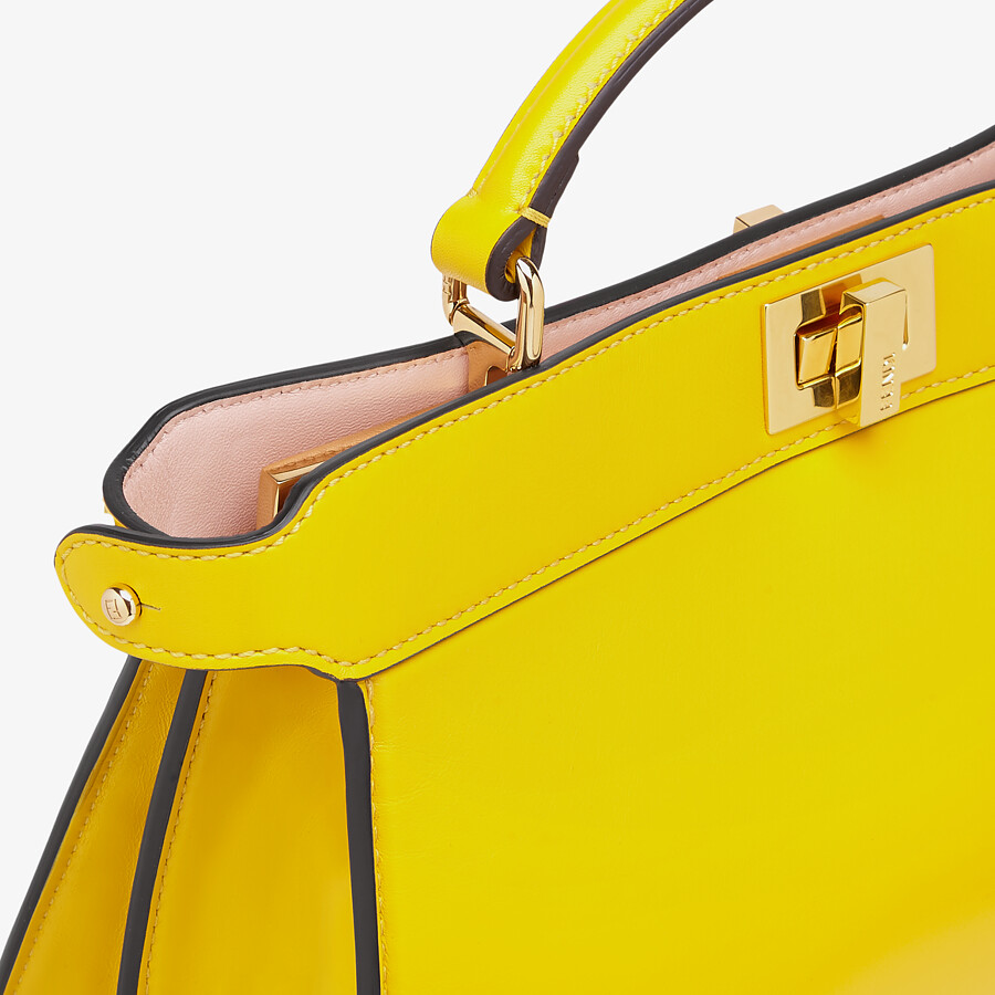 FENDI PEEKABOO ISEEU EAST-WEST - Yellow leather bag - view 5 detail