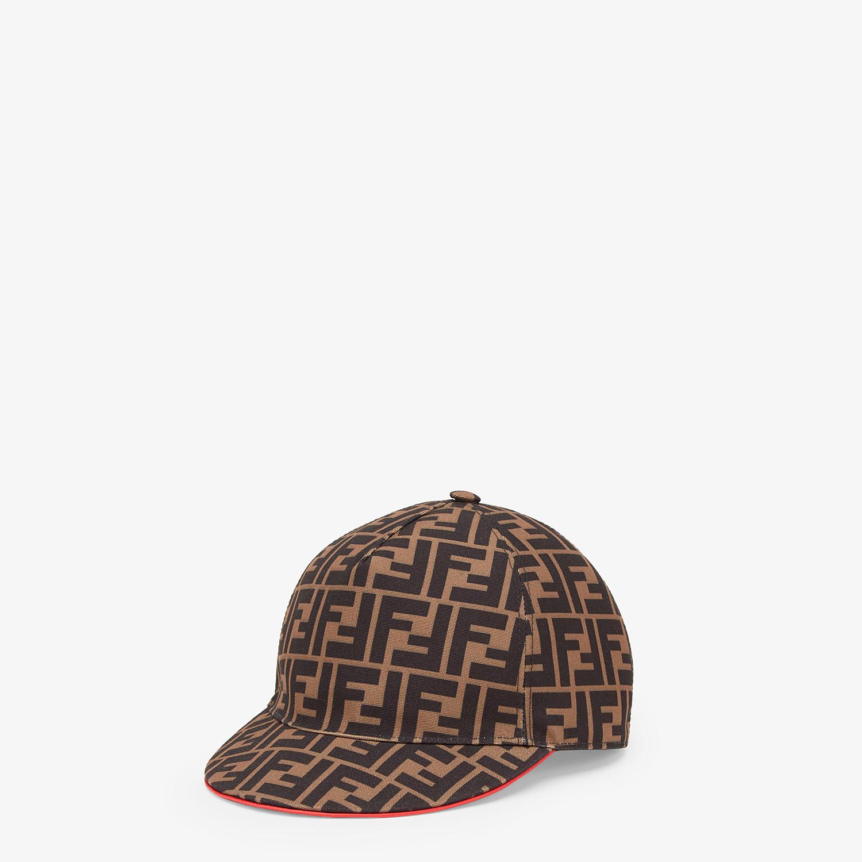FENDI FENDIRAMA HAT - Multicolour fabric baseball cap - view 1 detail