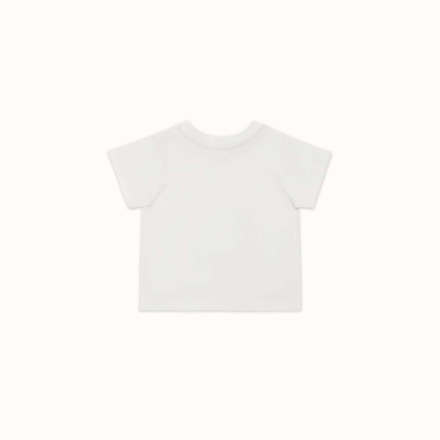 FENDI T-SHIRT - White cotton Baby T-Shirt - view 2 detail