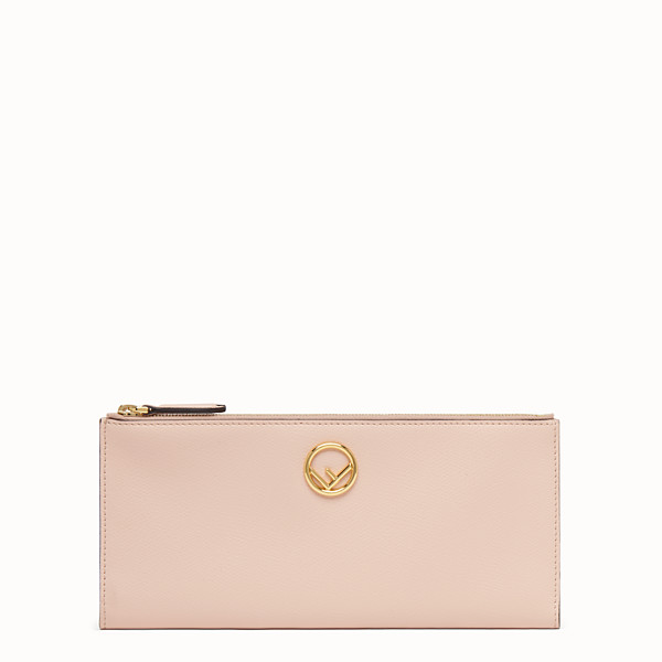 FENDI BIFOLD - Pink leather wallet - view 1 small thumbnail