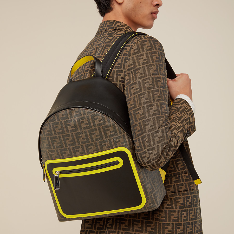 FENDI BACKPACK - Brown fabric backpack - view 5 detail