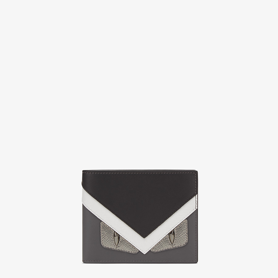 FENDI WALLET - Horizontal wallet in grey leather with insert - view 1 detail