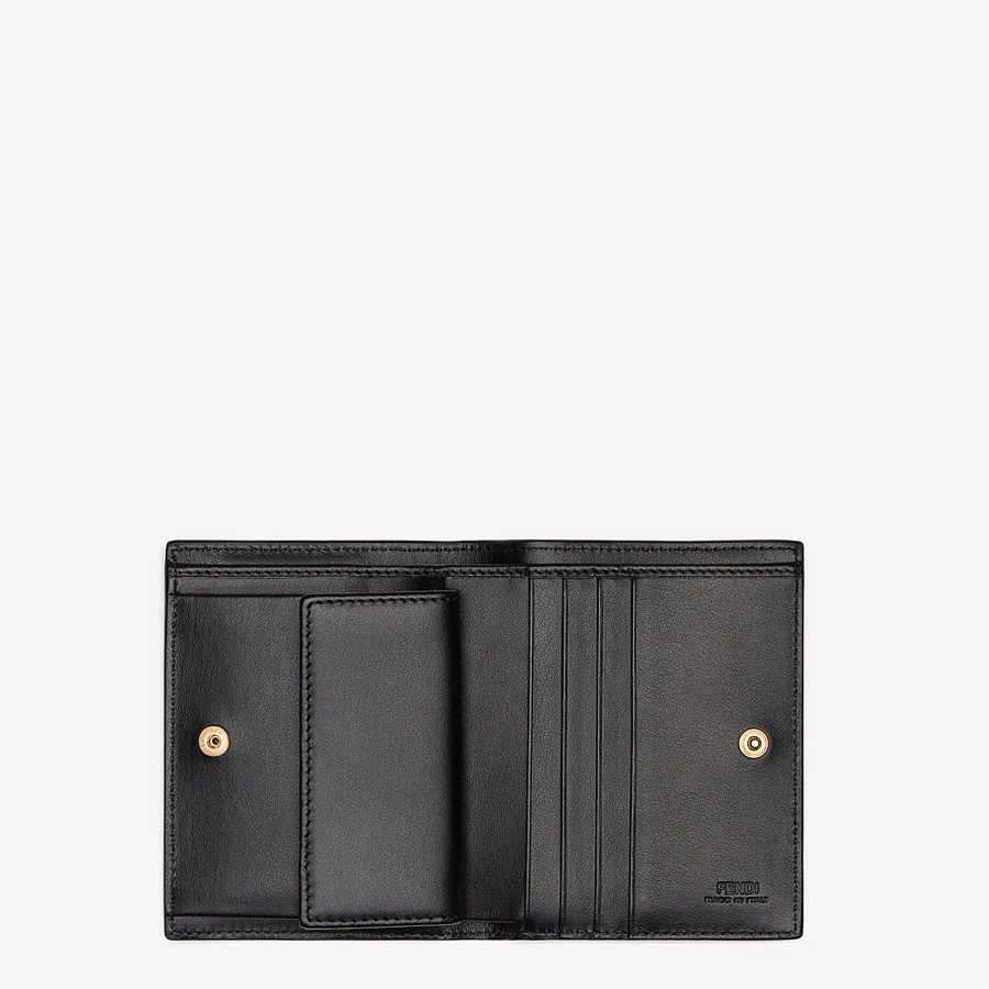 FENDI BIFOLD - Black compact leather wallet - view 4 detail