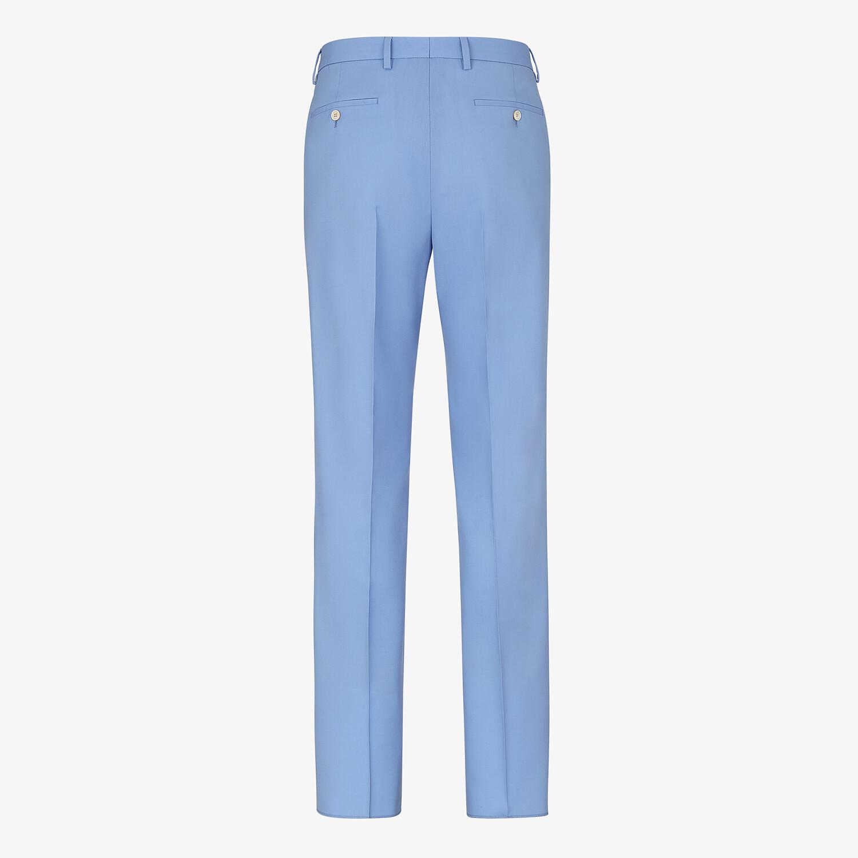 FENDI PANTS - Light blue wool pants - view 2 detail